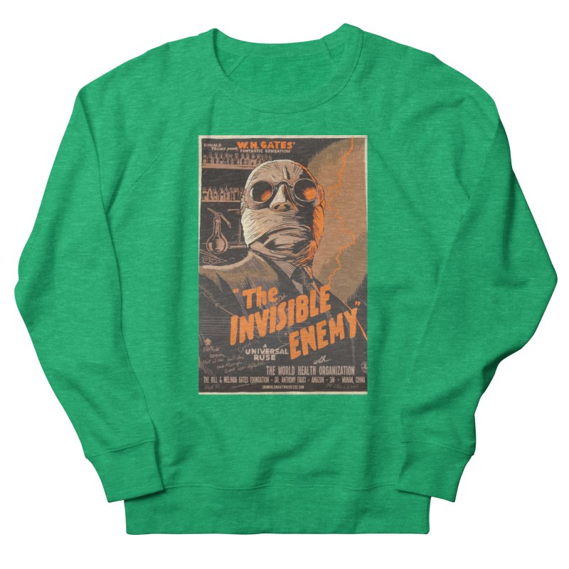 """""""Donald Trump presents W.H. Gates Fantastic Sensation: The Invisible Enemy"""" by dontpanicattack!™ Women's Sweatshirt by 3rd World Man"""
