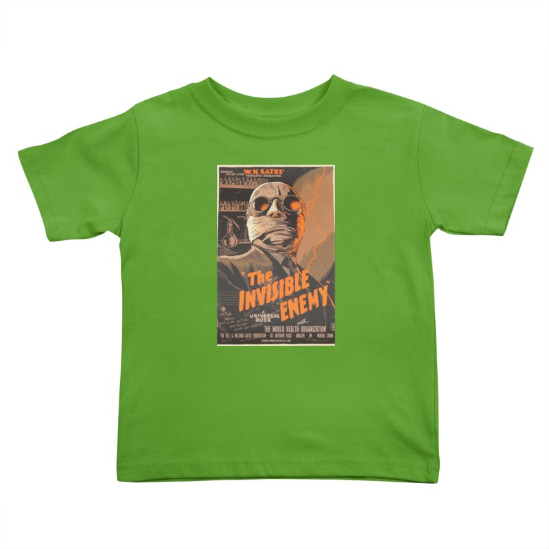 """""""Donald Trump presents W.H. Gates Fantastic Sensation: The Invisible Enemy"""" by dontpanicattack!™ Kids Toddler T-Shirt by 3rd World Man"""