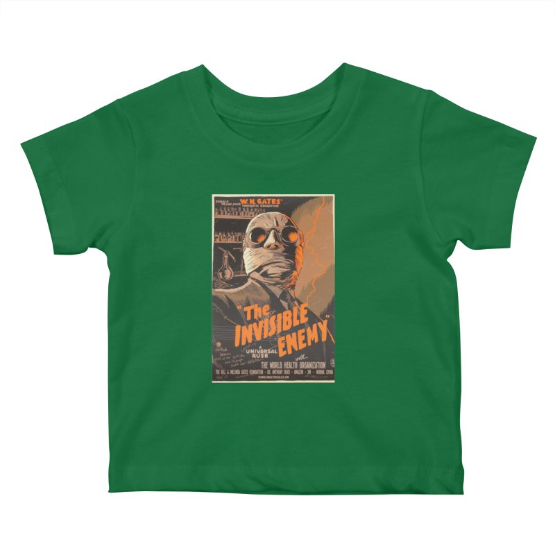 """""""Donald Trump presents W.H. Gates Fantastic Sensation: The Invisible Enemy"""" by dontpanicattack!™ Kids Baby T-Shirt by 3rd World Man"""
