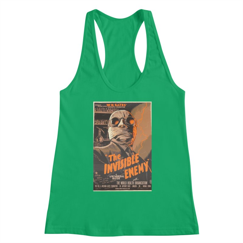 """""""Donald Trump presents W.H. Gates Fantastic Sensation: The Invisible Enemy"""" by dontpanicattack!™ Women's Tank by 3rd World Man"""