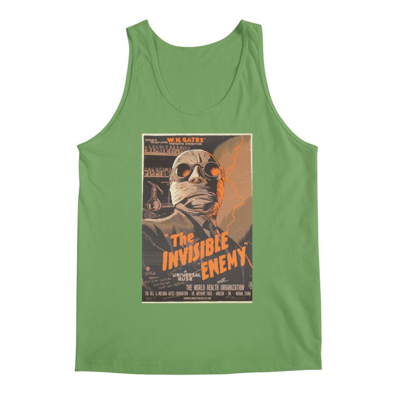 """""""Donald Trump presents W.H. Gates Fantastic Sensation: The Invisible Enemy"""" by dontpanicattack!™ Men's Tank by 3rd World Man"""
