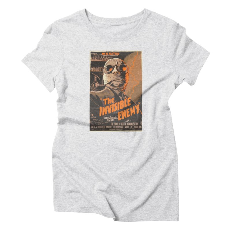 """""""Donald Trump presents W.H. Gates Fantastic Sensation: The Invisible Enemy"""" by dontpanicattack!™ Women's T-Shirt by 3rd World Man"""