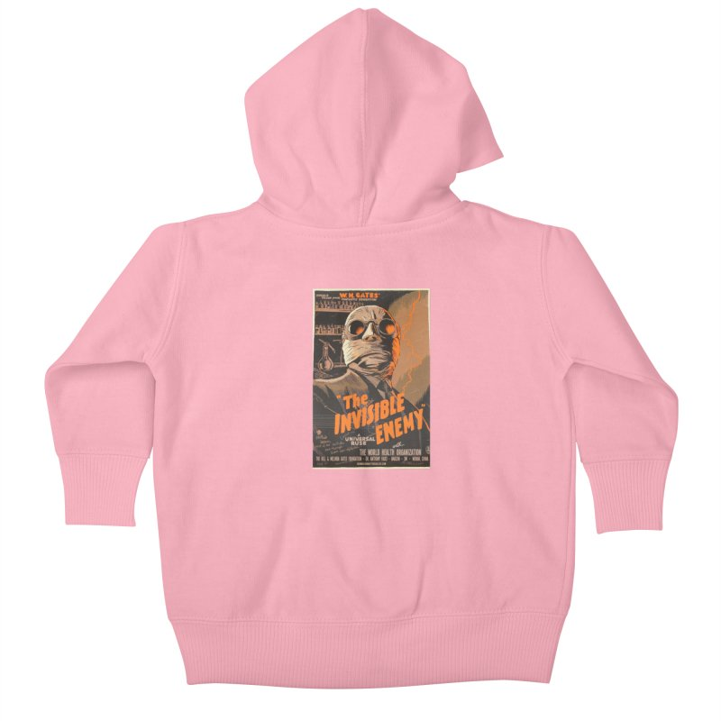 """""""Donald Trump presents W.H. Gates Fantastic Sensation: The Invisible Enemy"""" by dontpanicattack!™ Kids Baby Zip-Up Hoody by 3rd World Man"""