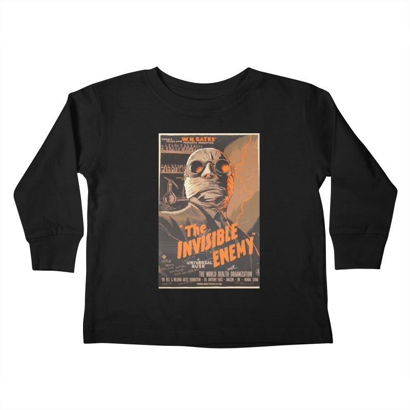 """""""Donald Trump presents W.H. Gates Fantastic Sensation: The Invisible Enemy"""" by dontpanicattack!™ Kids Toddler Longsleeve T-Shirt by 3rd World Man"""
