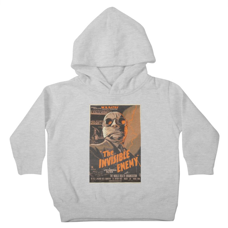 """""""Donald Trump presents W.H. Gates Fantastic Sensation: The Invisible Enemy"""" by dontpanicattack!™ Kids Toddler Pullover Hoody by 3rd World Man"""