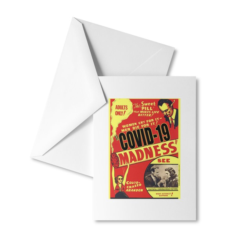 """""""Covid-19 Madness! Covid-Crazed Abandon!"""" by dontpanicattack!™ Accessories Greeting Card by 3rd World Man"""
