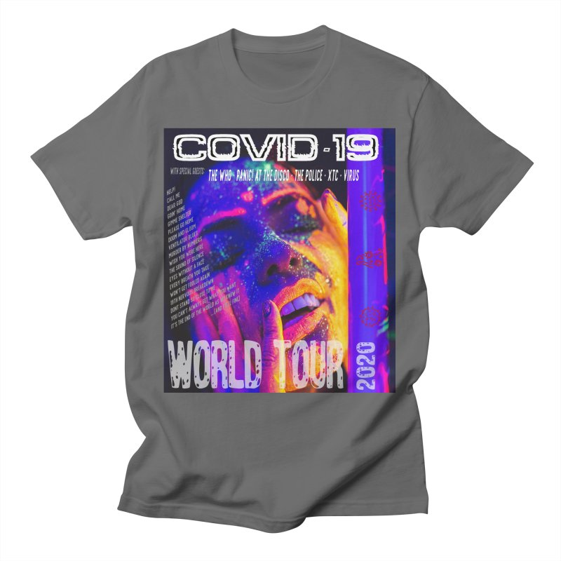 """""""COVID-19 World Tour 2020 with Rock's Greatest Hits"""" by dontpanicattack!™ Men's T-Shirt by 3rd World Man"""