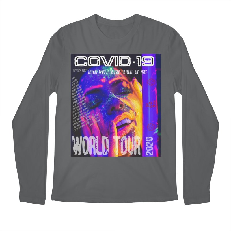 """COVID-19 World Tour 2020 with Rock's Greatest Hits"" by dontpanicattack!™ Men's Longsleeve T-Shirt by 3rd World Man"