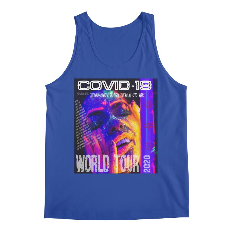 """""""COVID-19 World Tour 2020 with Rock's Greatest Hits"""" by dontpanicattack!™ Men's Tank by 3rd World Man"""