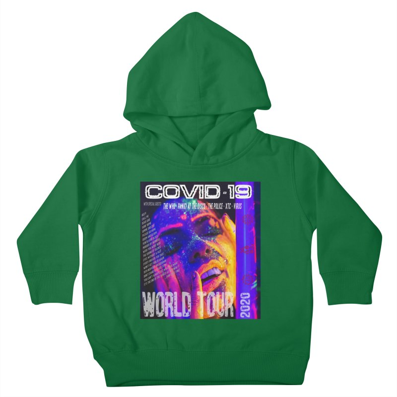"""""""COVID-19 World Tour 2020 with Rock's Greatest Hits"""" by dontpanicattack!™ Kids Toddler Pullover Hoody by 3rd World Man"""