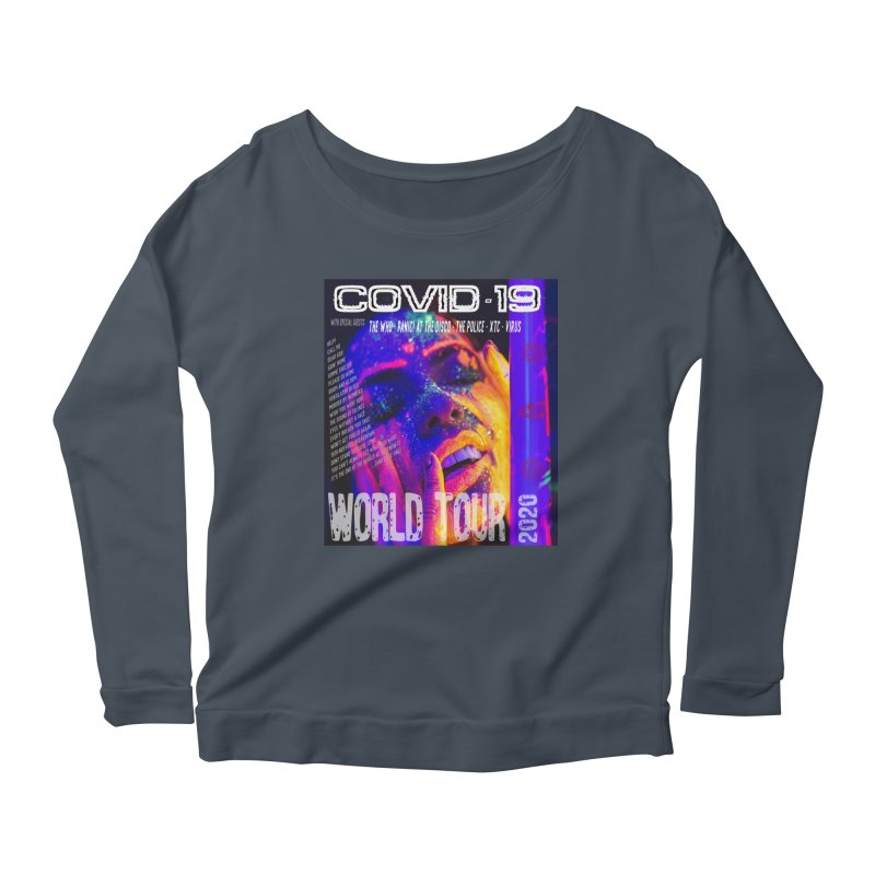 """""""COVID-19 World Tour 2020 with Rock's Greatest Hits"""" by dontpanicattack!™ Women's Longsleeve T-Shirt by 3rd World Man"""