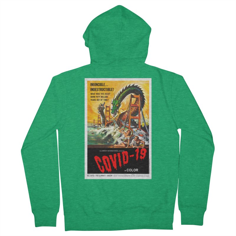 """""""Invincible, Indestructible – The Beast Covid-19"""" by dontpanicattack!™ Men's Zip-Up Hoody by 3rd World Man"""