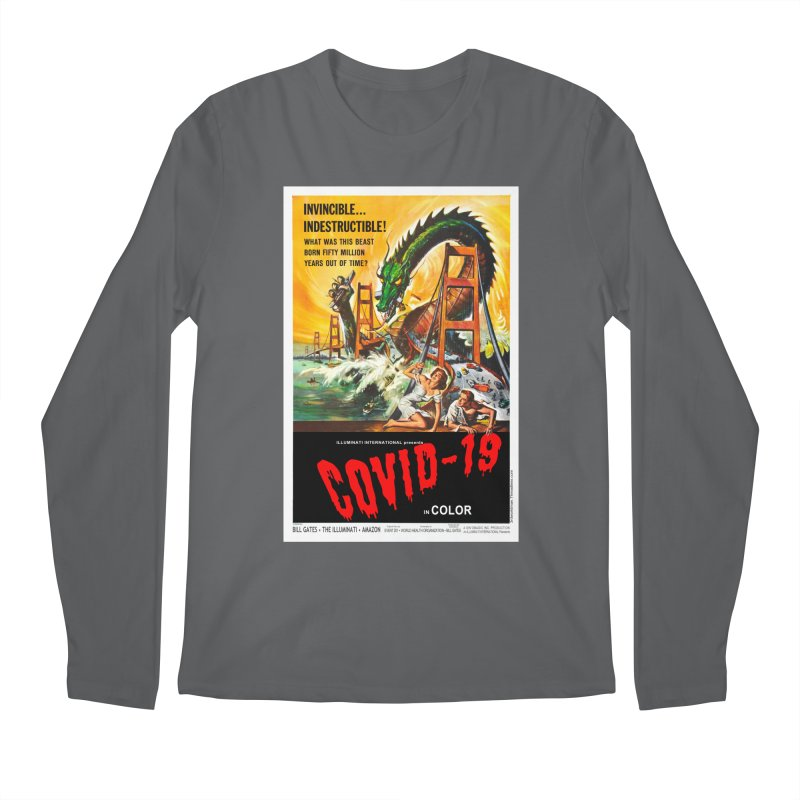 """""""Invincible, Indestructible – The Beast Covid-19"""" by dontpanicattack!™ Men's Longsleeve T-Shirt by 3rd World Man"""