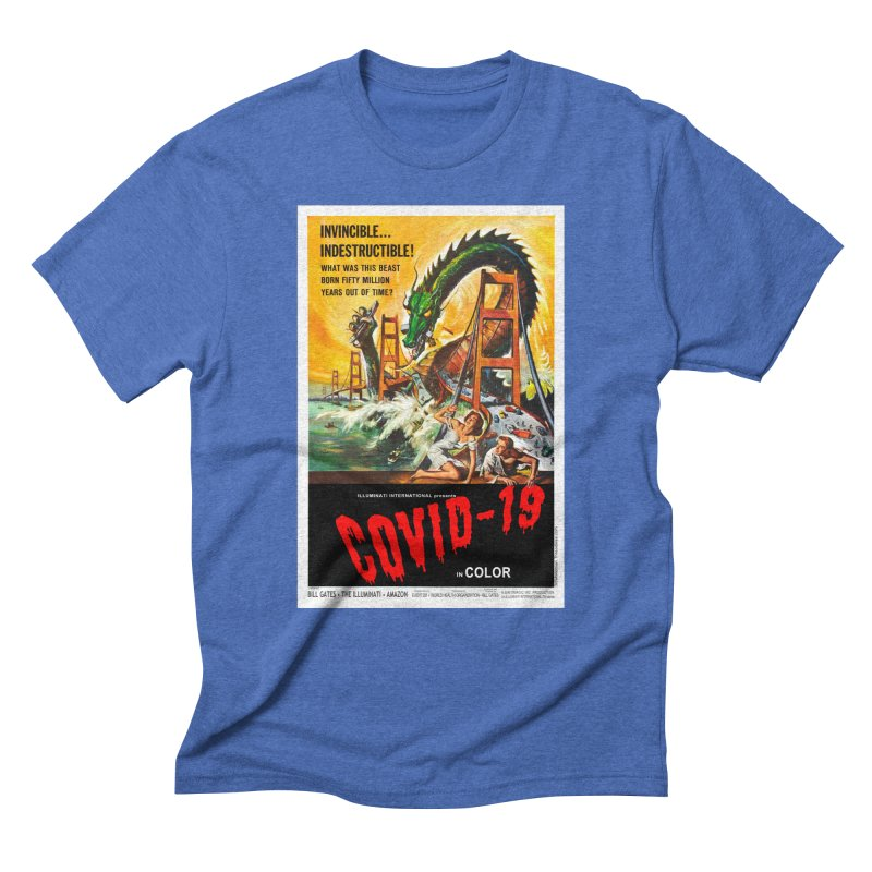 """""""Invincible, Indestructible – The Beast Covid-19"""" by dontpanicattack!™ Men's T-Shirt by 3rd World Man"""