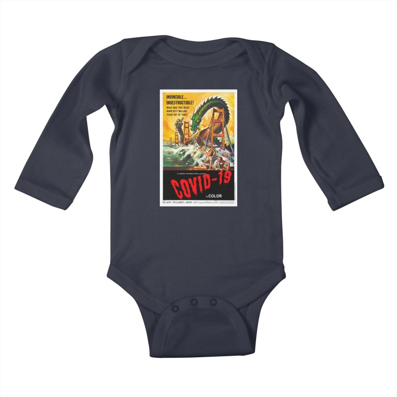 """""""Invincible, Indestructible – The Beast Covid-19"""" by dontpanicattack!™ Kids Baby Longsleeve Bodysuit by 3rd World Man"""