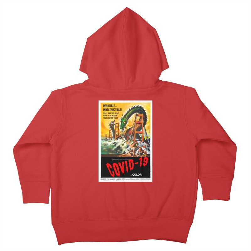 """""""Invincible, Indestructible – The Beast Covid-19"""" by dontpanicattack!™ Kids Toddler Zip-Up Hoody by 3rd World Man"""