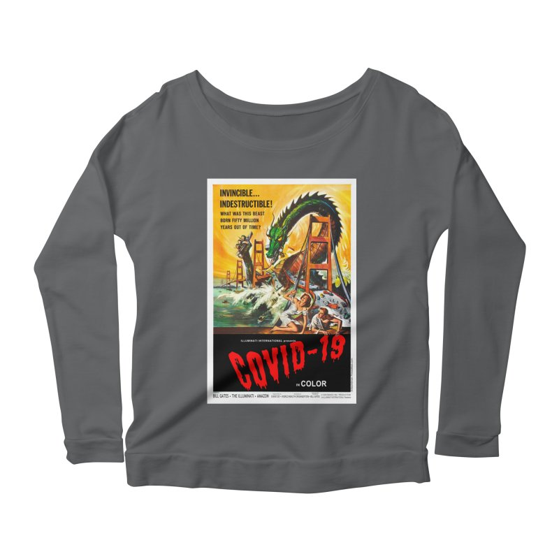 """""""Invincible, Indestructible – The Beast Covid-19"""" by dontpanicattack!™ Women's Longsleeve T-Shirt by 3rd World Man"""