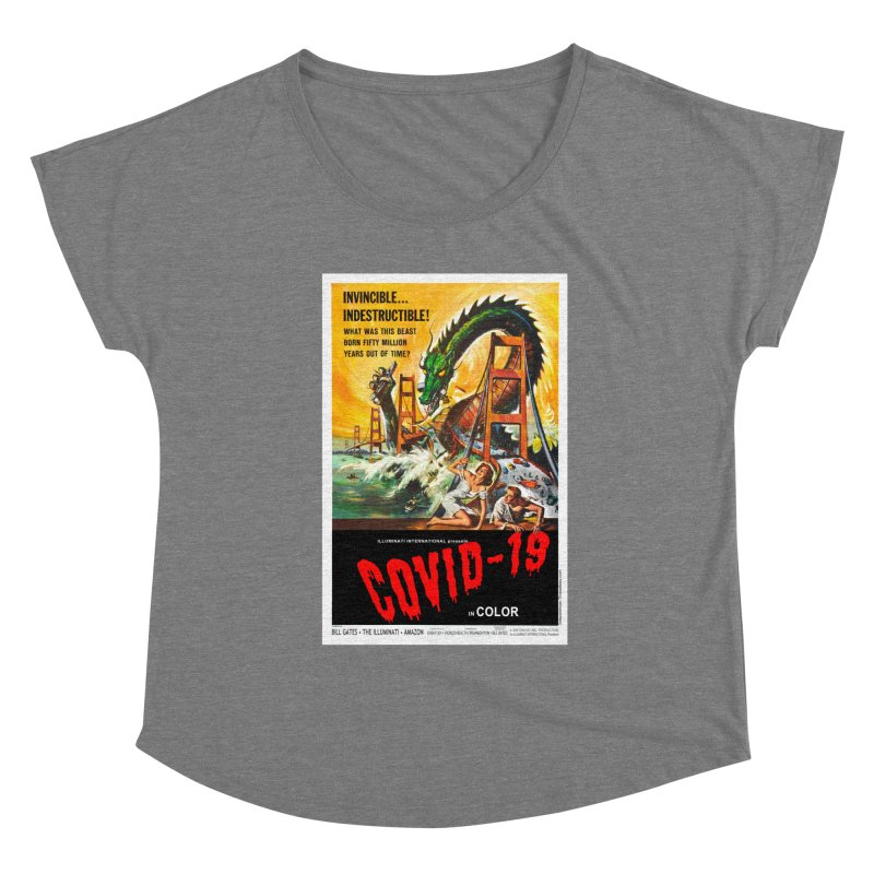 """""""Invincible, Indestructible – The Beast Covid-19"""" by dontpanicattack!™ Women's Scoop Neck by 3rd World Man"""