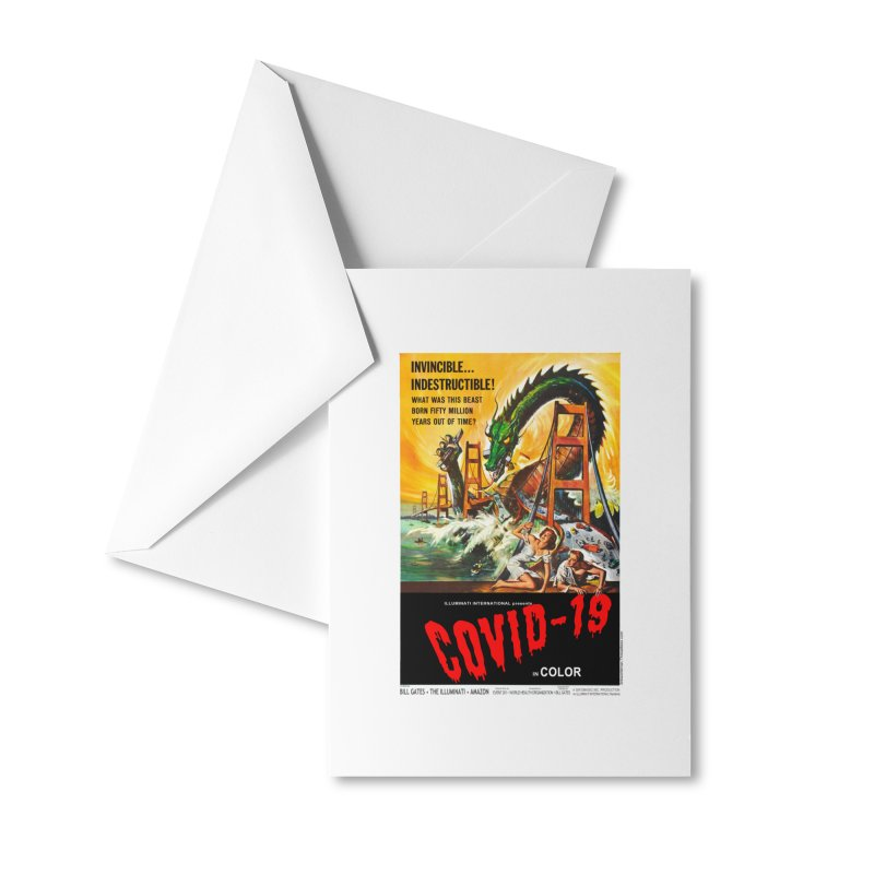 """""""Invincible, Indestructible – The Beast Covid-19"""" by dontpanicattack!™ Accessories Greeting Card by 3rd World Man"""