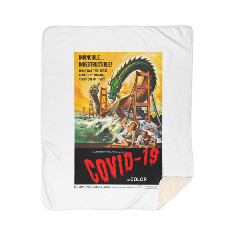 """""""Invincible, Indestructible – The Beast Covid-19"""" by dontpanicattack!™ Home Blanket by 3rd World Man"""