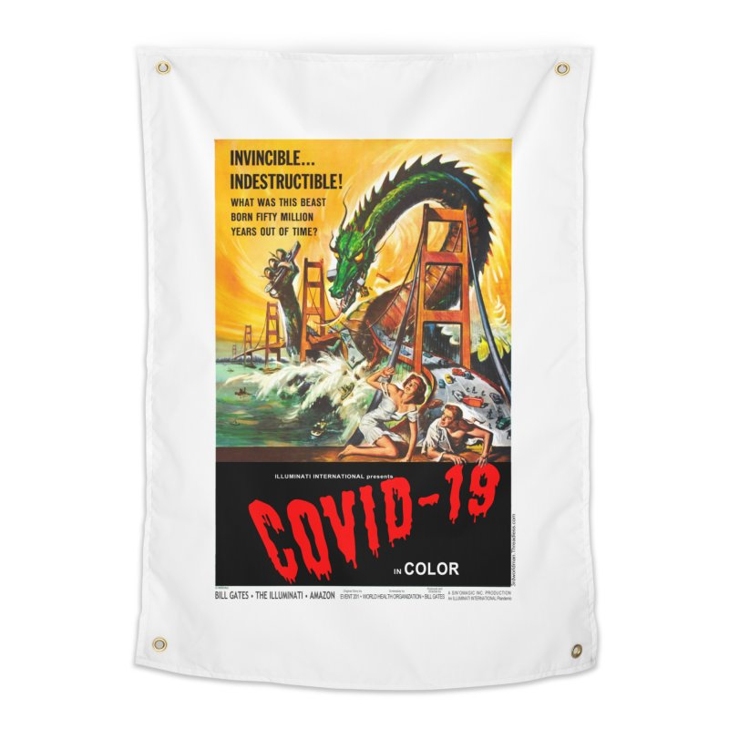 """Invincible, Indestructible – The Beast Covid-19"" by dontpanicattack!™ Home Tapestry by 3rd World Man"
