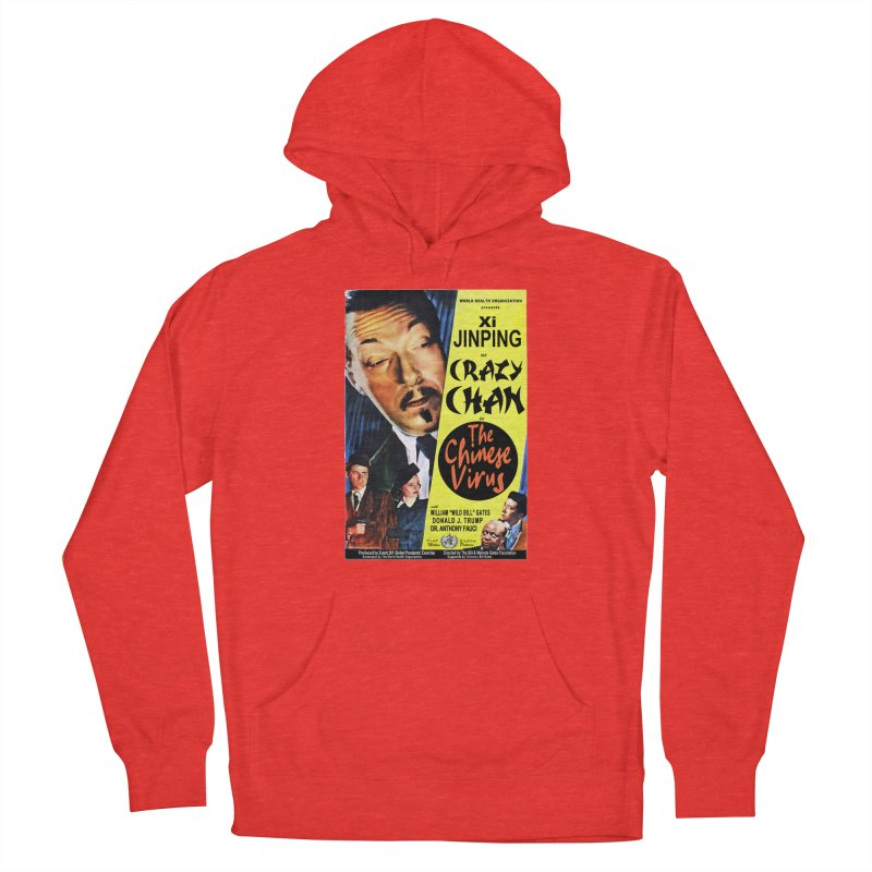 """""""WHO presents Xi Jinping as Crazy Chan in The Chinese Virus"""" by dontpanicattack!™ (rup) Women's Pullover Hoody by 3rd World Man"""