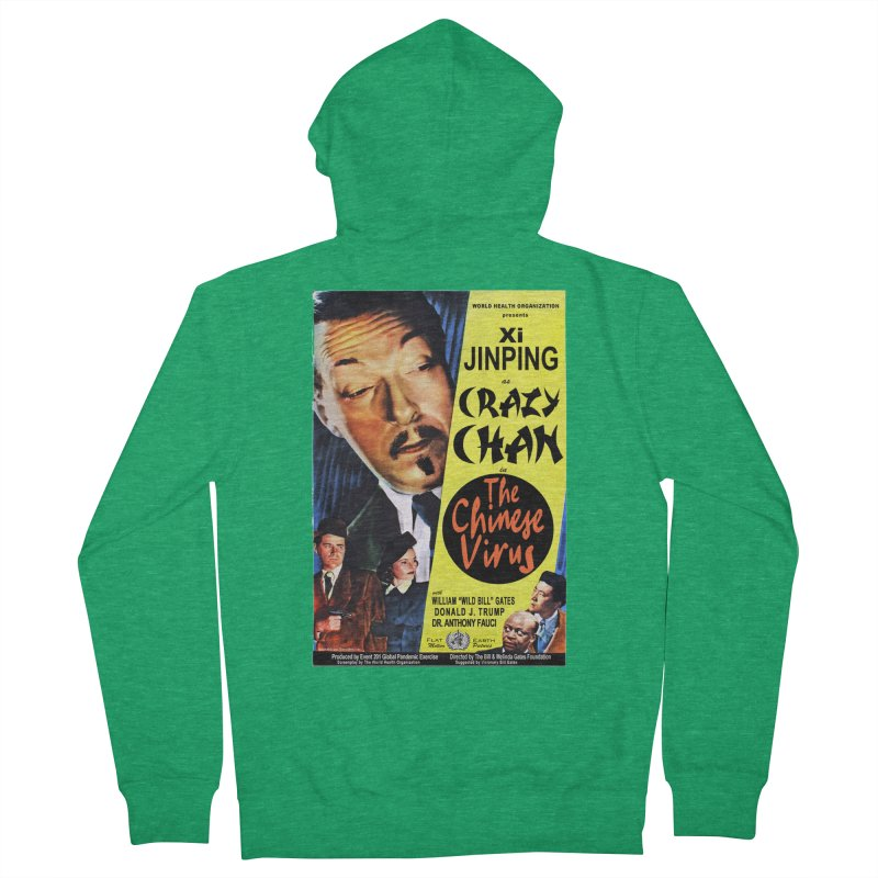 """""""WHO presents Xi Jinping as Crazy Chan in The Chinese Virus"""" by dontpanicattack!™ (rup) Women's Zip-Up Hoody by 3rd World Man"""