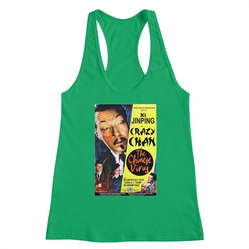 """""""WHO presents Xi Jinping as Crazy Chan in The Chinese Virus"""" by dontpanicattack!™ (rup) Women's Tank by 3rd World Man"""