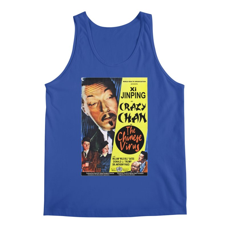 """""""WHO presents Xi Jinping as Crazy Chan in The Chinese Virus"""" by dontpanicattack!™ (rup) Men's Tank by 3rd World Man"""