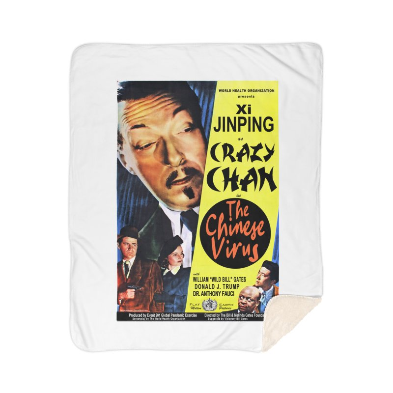 """""""WHO presents Xi Jinping as Crazy Chan in The Chinese Virus"""" by dontpanicattack!™ (rup) Home Blanket by 3rd World Man"""