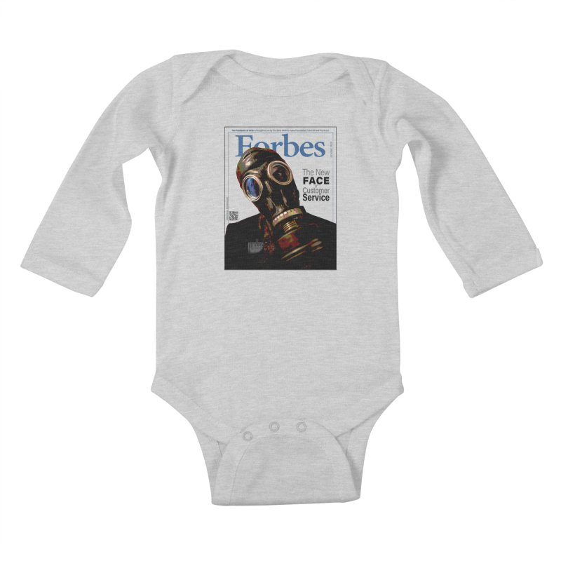 """""""The New Face Of Customer Service"""" by dontpanicattack™ Kids Baby Longsleeve Bodysuit by 3rd World Man"""