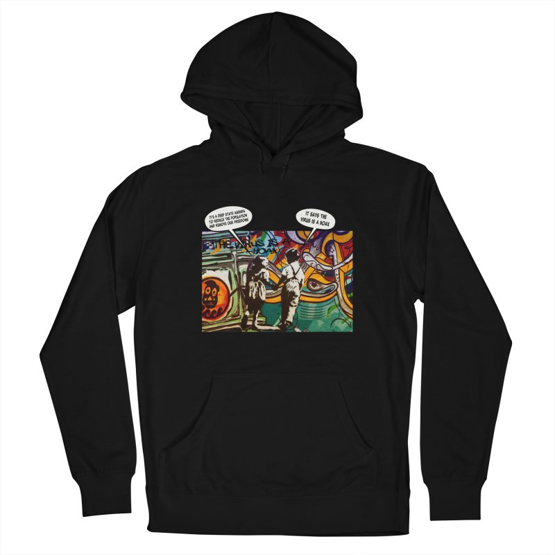 """""""The Virus Is A Hoax"""" by dontpanicattack™ Fitting sentiment for the current Covid-19 State Of Panic Men's Pullover Hoody by 3rd World Man"""