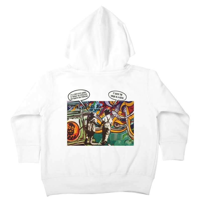 """""""The Virus Is A Hoax"""" by dontpanicattack™ Fitting sentiment for the current Covid-19 State Of Panic Kids Toddler Zip-Up Hoody by 3rd World Man"""