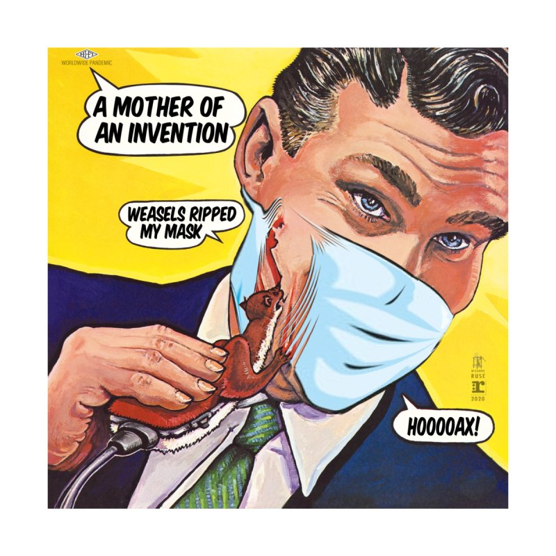 """Weasels Ripped My Mask"" a Frank Zappa tribute for the Pandemic of 2020 by dontpanicattack™ Home Tapestry by 3rd World Man"