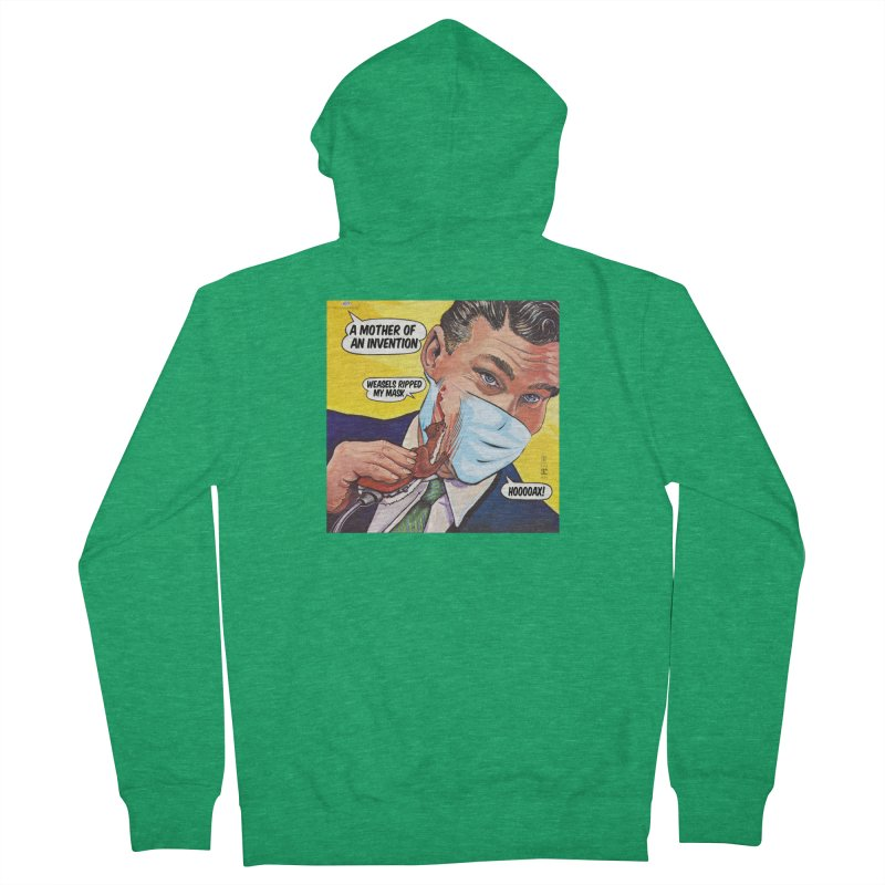 """""""Weasels Ripped My Mask"""" a Frank Zappa tribute for the Pandemic of 2020 by dontpanicattack™ Women's Zip-Up Hoody by 3rd World Man"""