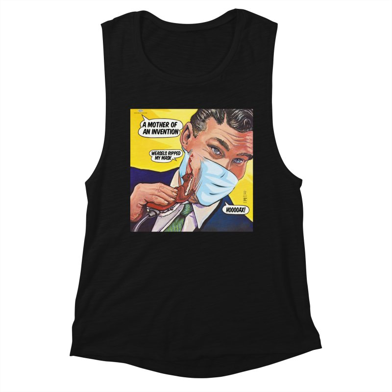 """""""Weasels Ripped My Mask"""" a Frank Zappa tribute for the Pandemic of 2020 by dontpanicattack™ Women's Tank by 3rd World Man"""