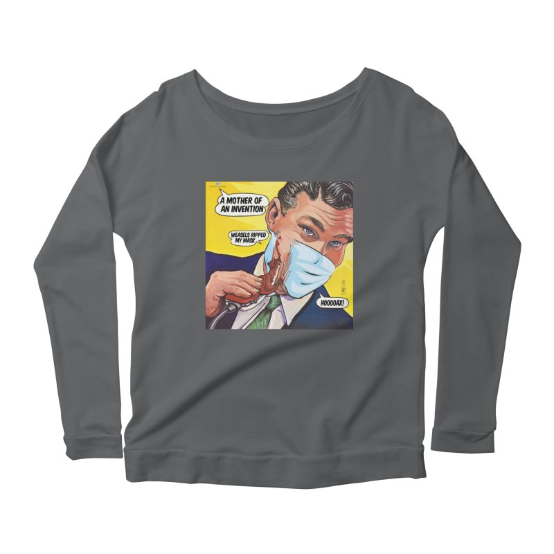 """""""Weasels Ripped My Mask"""" a Frank Zappa tribute for the Pandemic of 2020 by dontpanicattack™ Women's Longsleeve T-Shirt by 3rd World Man"""