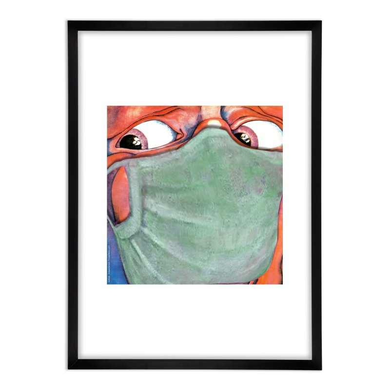 """""""In The Court Of The Masked King"""" a King Crimson tribute for the Pandemic of 2020 by dontpanicattack Home Framed Fine Art Print by 3rd World Man"""