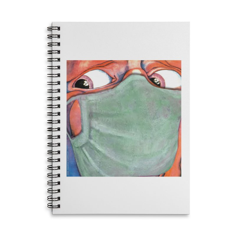 """""""In The Court Of The Masked King"""" a King Crimson tribute for the Pandemic of 2020 by dontpanicattack Accessories Notebook by 3rd World Man"""