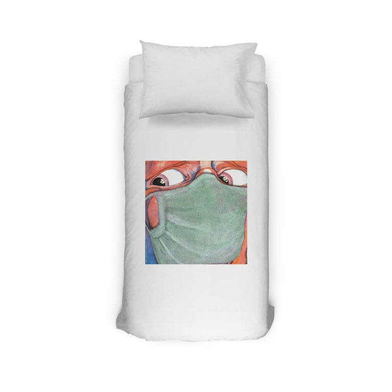 """""""In The Court Of The Masked King"""" a King Crimson tribute for the Pandemic of 2020 by dontpanicattack Home Duvet by 3rd World Man"""