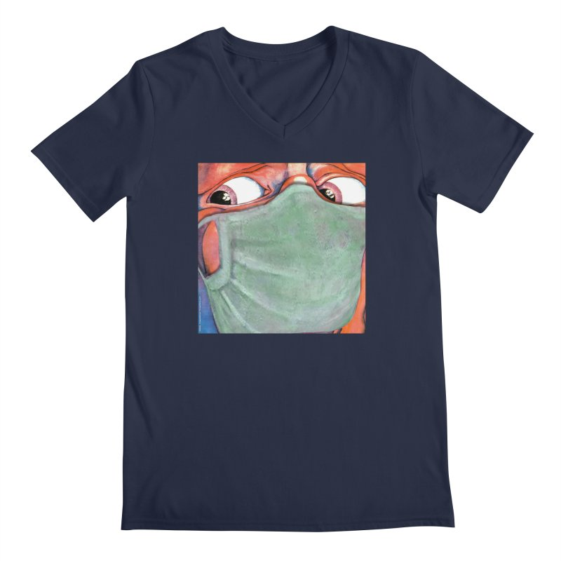 """""""In The Court Of The Masked King"""" a King Crimson tribute for the Pandemic of 2020 by dontpanicattack Men's V-Neck by 3rd World Man"""