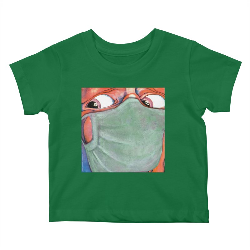 """""""In The Court Of The Masked King"""" a King Crimson tribute for the Pandemic of 2020 by dontpanicattack Kids Baby T-Shirt by 3rd World Man"""