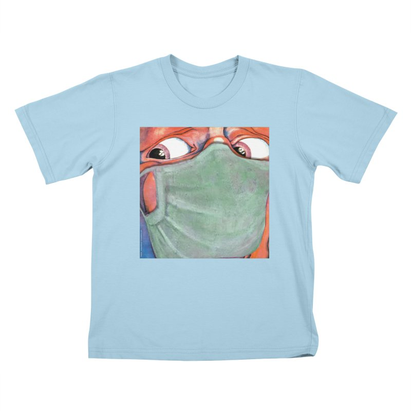 """""""In The Court Of The Masked King"""" a King Crimson tribute for the Pandemic of 2020 by dontpanicattack Kids T-Shirt by 3rd World Man"""