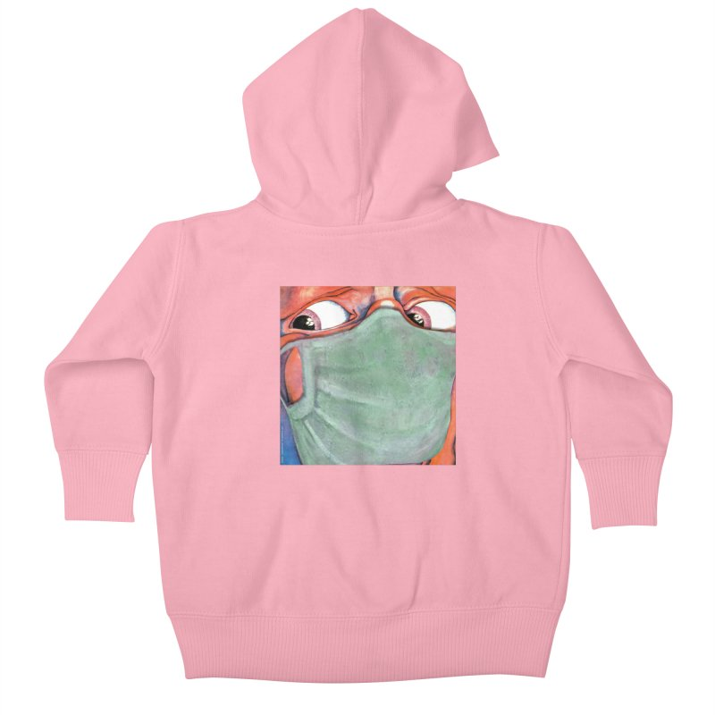 """In The Court Of The Masked King"" a King Crimson tribute for the Pandemic of 2020 by dontpanicattack Kids Baby Zip-Up Hoody by 3rd World Man"