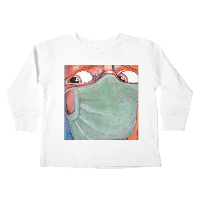 """""""In The Court Of The Masked King"""" a King Crimson tribute for the Pandemic of 2020 by dontpanicattack Kids Toddler Longsleeve T-Shirt by 3rd World Man"""