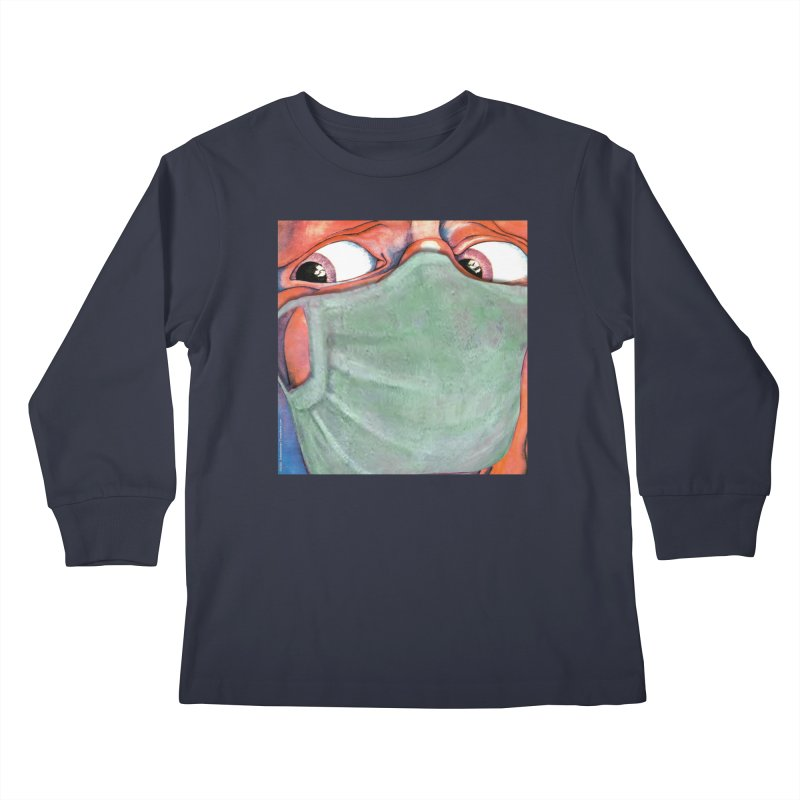 """""""In The Court Of The Masked King"""" a King Crimson tribute for the Pandemic of 2020 by dontpanicattack Kids Longsleeve T-Shirt by 3rd World Man"""