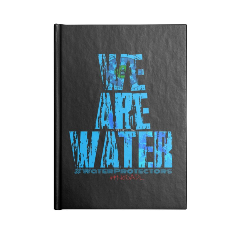 we are water Accessories Blank Journal Notebook by Online Store