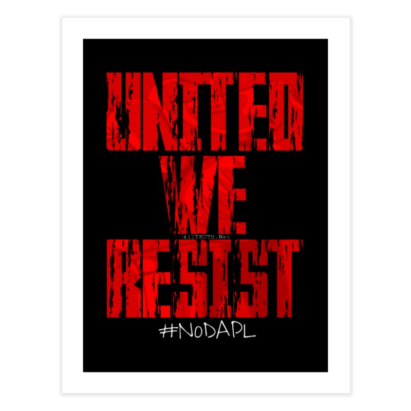 united we resist Home Throw Pillow by Online Store