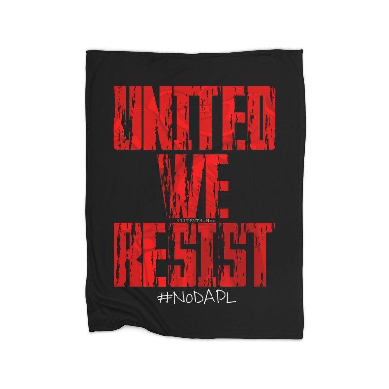 united we resist Home Fleece Blanket Blanket by Online Store