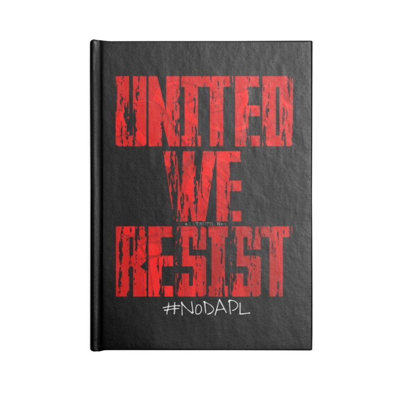 united we resist Accessories Blank Journal Notebook by Online Store